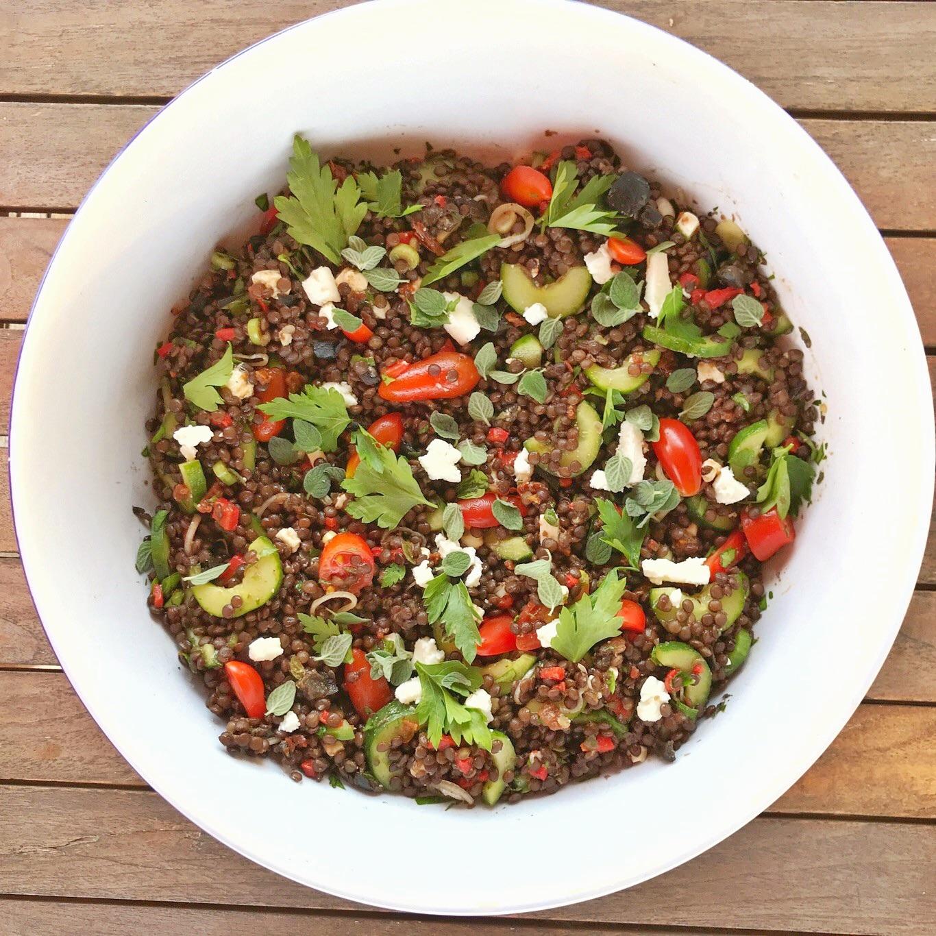 Beluga Lentils Salad Frixos Personal Chefing