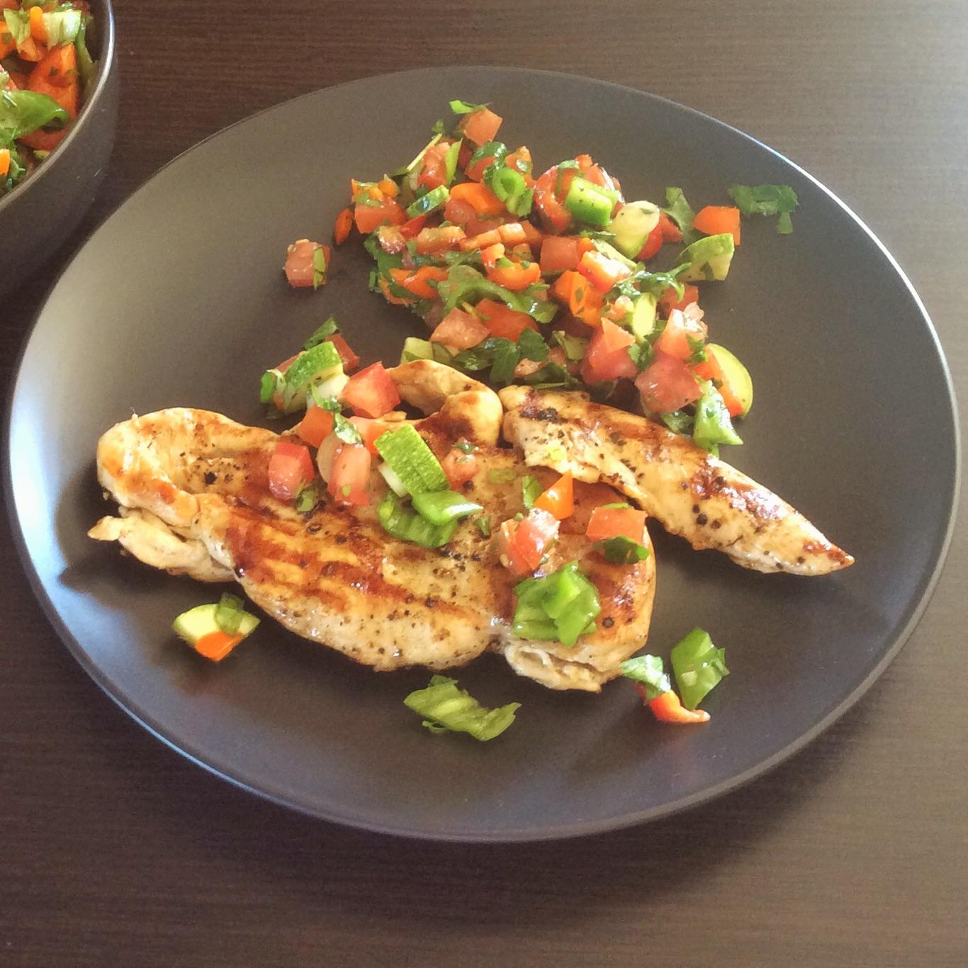 Chicken Paillard Herbed Salad Frixos Personal Chefing